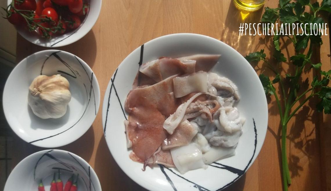 Pescheria Il Piscione Ciriè ricetta totani al sugo rosso