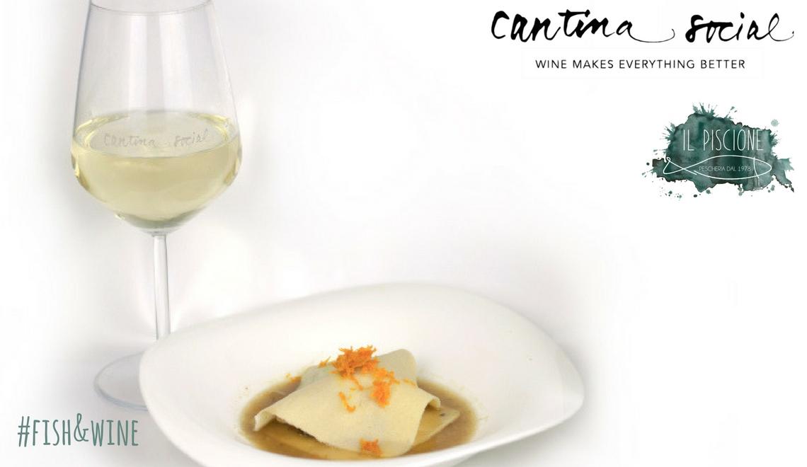 Piscione Fish&Wine 1 BLOG filetto di sgombro in raviolo aperto con dashi